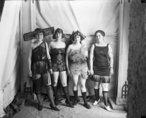 Four women in costume Rhoads, Harry Mellon Western History/Genealogy Dept., Denver Public Library