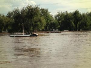 My picture of the flooded South Platte River