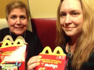 My Mother-in-law and I with our Happy Meals