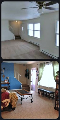 Living Room Before & After