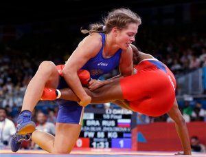 London Olympics Wrestling Women - the kind of girls who like to wrestle
