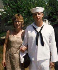 Linda and her son, Derek
