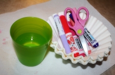 Supplies for Tie-Dye hearts