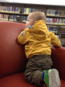 We may or may not have spent an entire hour climbing up and down this chair at the library. Time well spent.